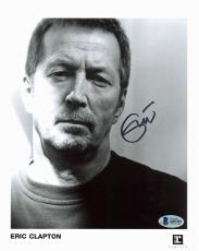 Eric Clapton Signed B&W Reprise Records Promo 8x10 Photo BAS #A85705