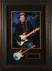 Eric Clapton Signed Concert Photo Framed Display