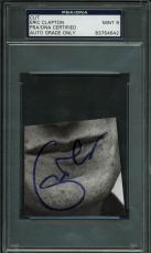 Eric Clapton Signed Cut Autograph Graded Mint 9! PSA/DNA Slabbed