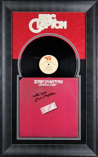 Eric Clapton Signed & Framed Another Ticket Album Cover W/ Vinyl BAS #A86810