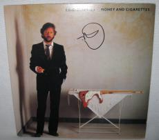 Eric Clapton Signed 'money And Cigerettes' Album Cover Psa/dna Loa