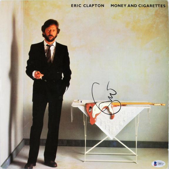 Eric Clapton Signed Money & Cigarettes Album Cover W/ Vinyl BAS #A88327