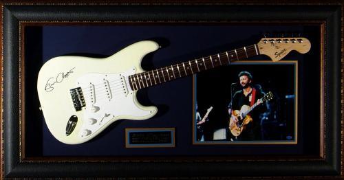 Eric Clapton - Laser Engraved Signature Framed Guitar