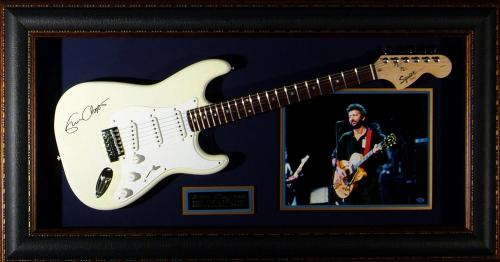 Eric Clapton - Laser Engraved Signature Framed Guitar