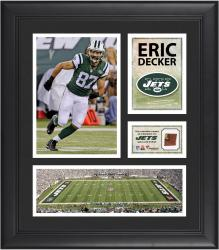 Eric Decker New York Jets Framed 15'' x 17'' Collage with Game-Used Football