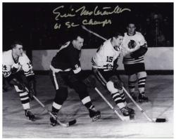 "Eric Nesterenko Chicago Blackhawks Autographed 8"" x 10"" Photograph with 61 SC Champs Inscription"