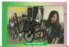 "Eric Peterson ""testamen"" Music Star Signed Autographed 1991 Rock Cards W/coa D"