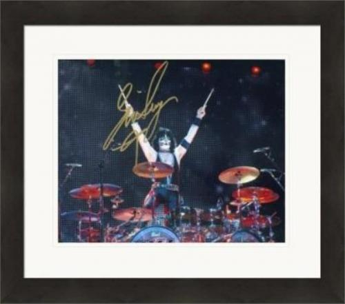 Eric Singer autographed 8x10 photo (Kiss) #SC1 Matted & Framed