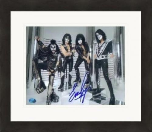 Eric Singer autographed 8x10 photo (Kiss) #SC2 Matted & Framed