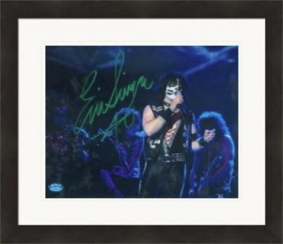 Eric Singer autographed 8x10 photo (Kiss) #SC3 Matted & Framed