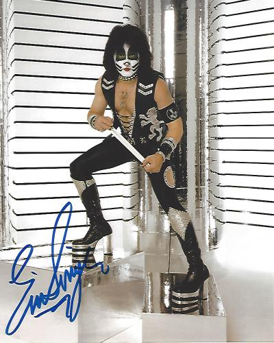 """ERIC SINGER - DRUMMER for """"KISS"""" and Known as CATMAN - Signed 8x10 Color Photo"""