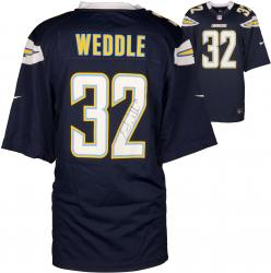 Eric Weddle San Diego Chargers Autographed Dark Blue Game Jersey