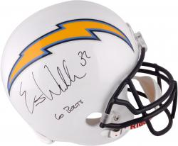 """Eric Weddle San Diego Chargers Autographed """"Go Bolts"""" F/S Replica Helmet"""