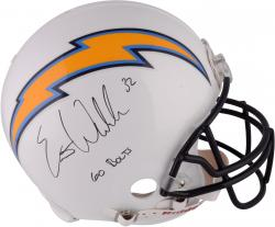 "Eric Weddle San Diego Chargers Autographed ""Go Bolts"" Proline Helmet"