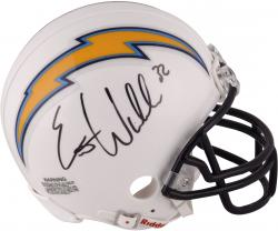 Eric Weddle San Diego Chargers Autographed Mini Helmet