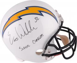 """Eric Weddle San Diego Chargers Autographed """"Super Chargers"""" F/S Replica Helmet"""