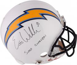 """Eric Weddle San Diego Chargers Autographed """"Super Chargers"""" Proline Helmet"""