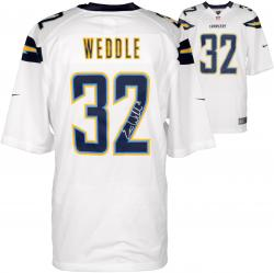 Eric Weddle San Diego Chargers Autographed White Game Jersey