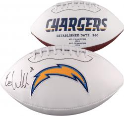 Eric Weddle San Diego Chargers Autographed White Panel Football