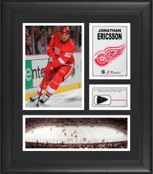 Jonathan Ericsson Detroit Red Wings Framed 15'' x 17'' Collage with Game-Used Puck-Limited Edition of 500 - Mounted Memories