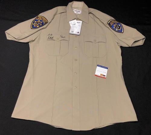 "Erik Estrada CHiPs Signed California Highway Patrol Costume Replica ""Ponch"" PSA"