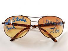 "ERIK ESTRADA ""PONCH"" + LARRY WILCOX ""JON"" CHiPs Signed Aviator Sunglasses PSA"