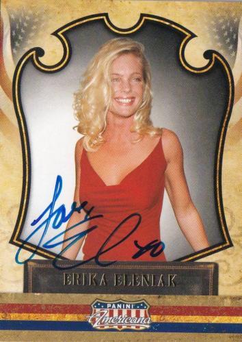 Erika Eleniak Signed 2011 Panini Americana Card #56 Autograph Playboy Baywatch