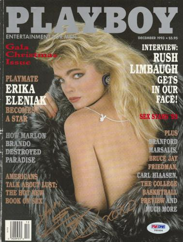 Erika Eleniak Signed Auto'd December 1993 Playboy Magazine Psa/dna Coa Baywatch
