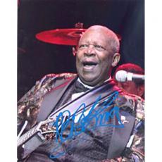 B.B. King Autographed Celebrity 8x10 Photo