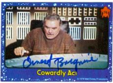Ernest Borgnine autographed card (The Black Hole) 1979 Topps #76