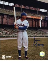 Ernie Banks Chicago Cubs Autographed 8'' x 10'' Bat Pose Photograph - Mounted Memories