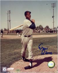 Ernie Banks Chicago Cubs Autographed 8'' x 10'' Pose Photograph - Mounted Memories