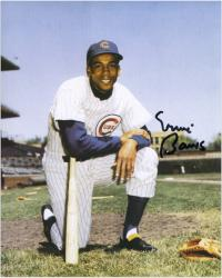"Ernie Banks Chicago CubsAutographed 8"" x 10"" Kneel Photograph"