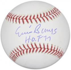 "Ernie Banks Chicago Cubs Autographed Baseball with ""HOF 77"" Inscription"