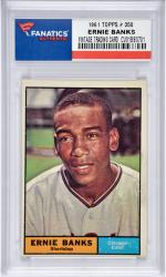 Ernie Banks Chicago Cubs 1961 Topps #350 Card