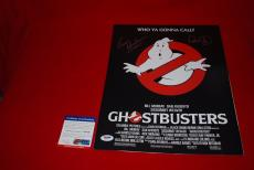 ERNIE HUDSON DAN AYKROYD signed 11x14 PSA/DNA ghostbusters photo winston 2