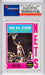 ERVING, JULIUS (1974-75 TOPPS A.S. # 200) CARD - Mounted Memories