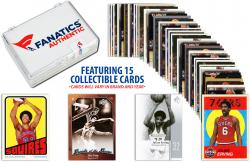Julius Erving -Philadelphia 76ers- Collectible Lot of 15 NBA Trading Cards - Mounted Memories
