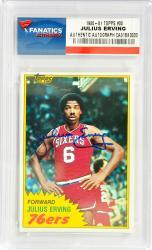 Julius Erving Philadelphia 76ers Autographed 1981-82 Topps #30 Card