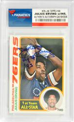 Julius Erving Philadelphia 76ers Autographed 1979-80 #130 Card with HOF 93 Inscription