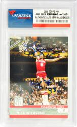 Julius Erving Philadelphia 76ers Autographed 2008 Topps #49 Card with HOF 93 Inscription