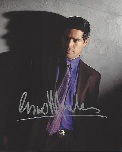 "ESAI MORALES as LT. TONY RODRIGUEZ on TV Series ""NYPD BLUE"" Signed 8x10 Color Photo"