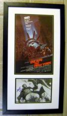 Escape from New York autographed photo by Kurt Russell and Isaac Hayes matted and framed 15x24