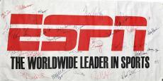 ESPN Signed Autographed 24x36 Banner Stuart Scott Berman Eisen SVP JSA