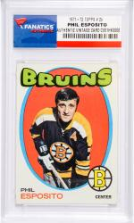 Phil Esposito Boston Bruins 1971-72 Topps #20 Card - Mounted Memories