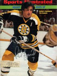 Phil Esposito Boston Bruins Autographed Hockey Heats Up Sports Illustrated Magazine