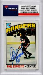 ESPOSITO, PHIL AUTO (1976-77 TOPPS # 245) CARD - Mounted Memories