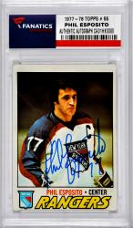 ESPOSITO, PHIL AUTO (1977-78 TOPPS # 55) CARD - Mounted Memories