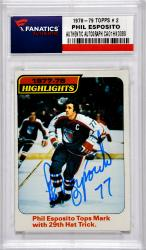 ESPOSITO, PHIL AUTO (1978-79 TOPPS # 2) CARD - Mounted Memories