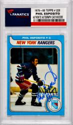 ESPOSITO, PHIL AUTO (1979-80 TOPPS # 220) CARD - Mounted Memories